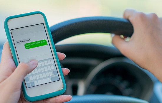 Les dangers de la distraction au volant